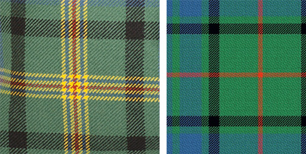 Maitland (left) and Lauder (right) Tartans